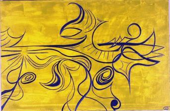 Pheonix Rising 24 in. x 36 in. SOLD