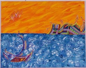 Sailing the Seas 16 in. x 20 in. SOLD