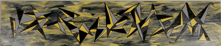 Yellow Fracture 14 in. x 60 in.